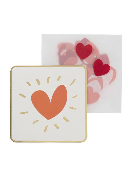 carte de voeux avec confettis - 60800626 - HEMA
