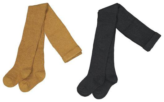 2-pack baby tights yellow yellow - 1000020277 - hema
