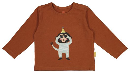 newborn T-shirt brown brown - 1000017650 - hema