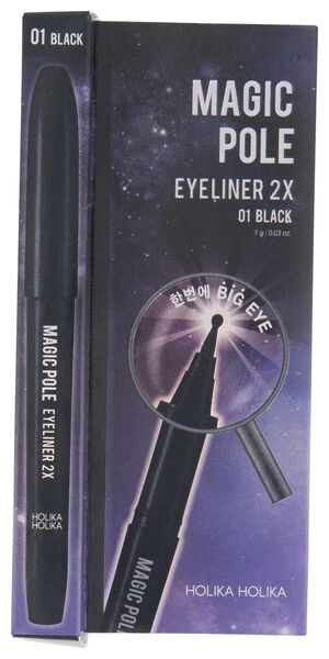 magic pole eyeliner 2x 01 black Holika Holika - 17620015 - HEMA