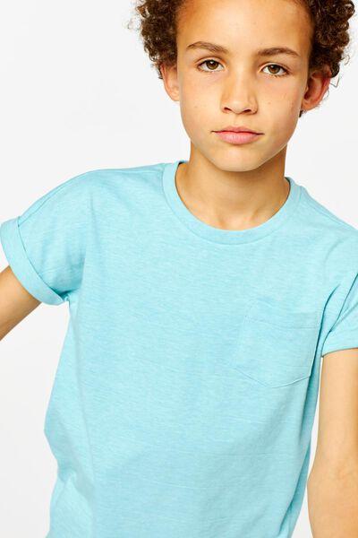 t-shirt enfant bleu moyen bleu moyen - 1000024043 - HEMA
