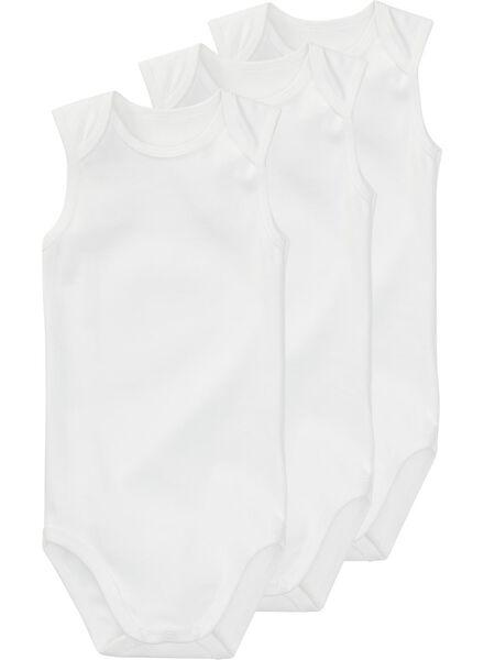 Baumwollbody - 3 Stück weiß weiß - 1000005227 - HEMA