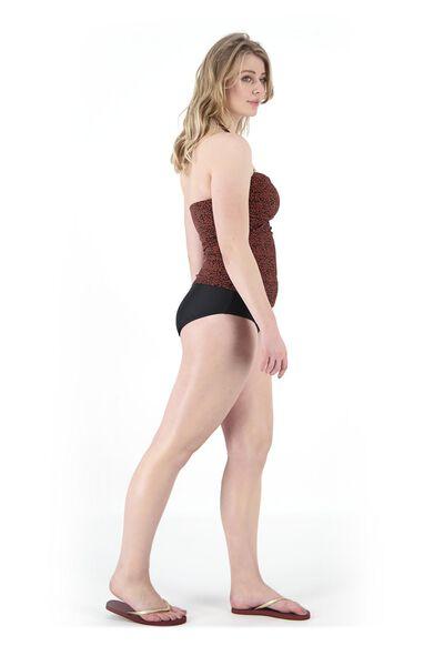 dames bikinislip high waist medium control zwart zwart - 1000017898 - HEMA