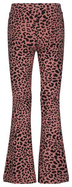 Kinder-Leggings, Schlaghosenschnitt, Animal rosa rosa - 1000024410 - HEMA