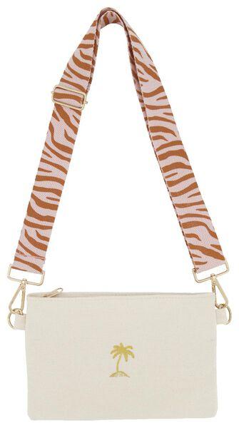 schoudertas 24x15.5 canvas zebra - 61140205 - HEMA