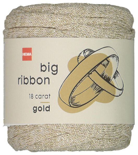 lintgaren 25m metallic goud goud big ribbon - 1400210 - HEMA