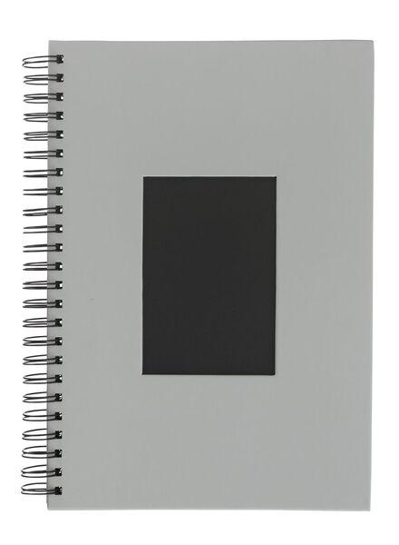 Fotoalbum mit Sichtfenster, 31.5 x 21.5 cm, grau - 14633320 - HEMA
