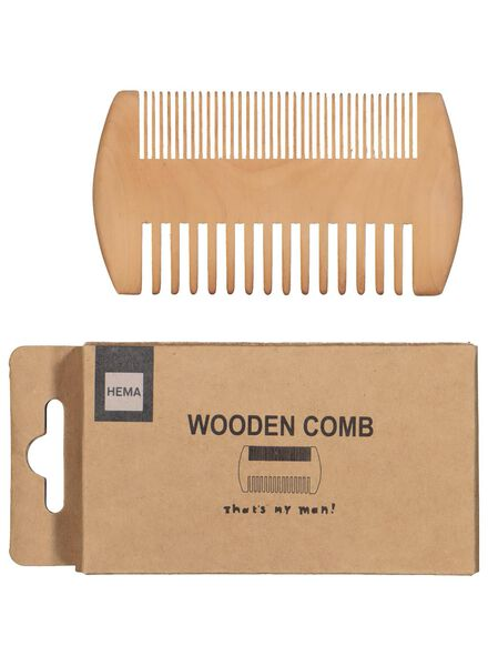 hair and beard comb - wood - 60600622 - hema