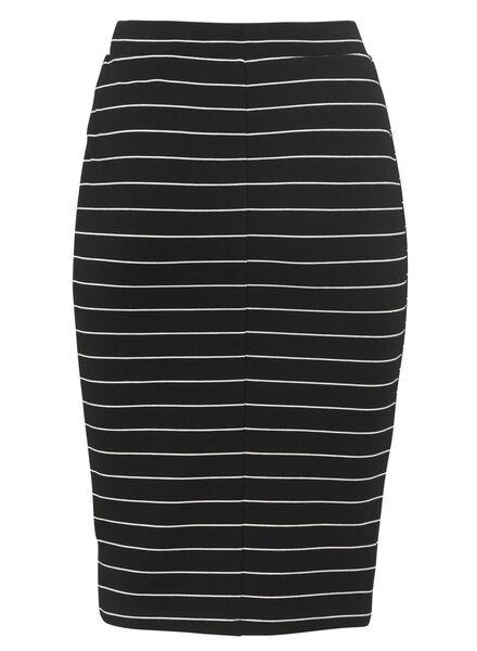 women's skirt black/white black/white - 1000005050 - hema