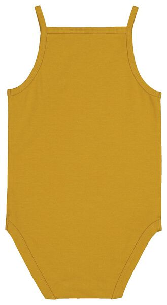bodysuit organic cotton stretch yellow ochre yellow ochre - 1000017819 - hema