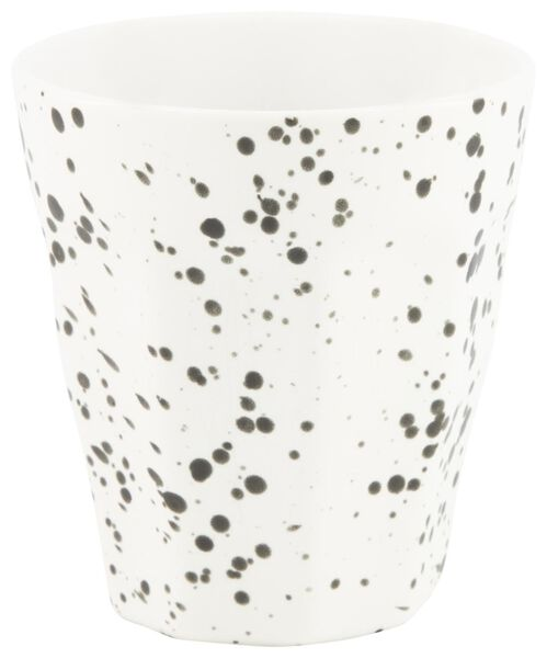 mug - 250 ml - Mirabeau matt - white splatters - 9602209 - hema