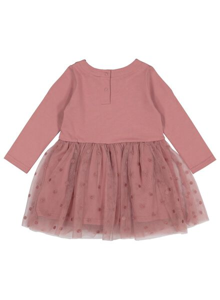 baby dress with tulle skirt old pink old pink - 1000016876 - hema