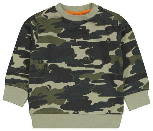 babysweater camouflage groen groen - 1000024424 - HEMA