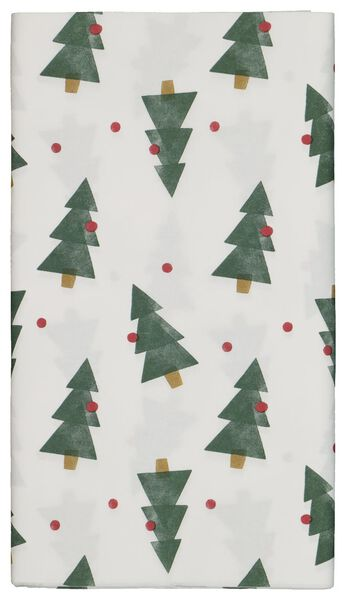 tablecloth paper 138x220 white with pine trees - 25600151 - hema