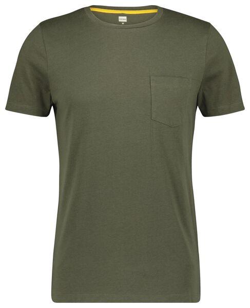 HEMA T-shirt Homme Vert Clair (vert clair)