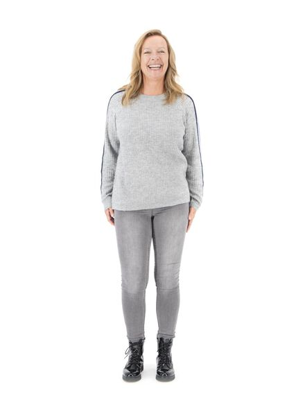 women's sweater light grey light grey - 1000017229 - hema