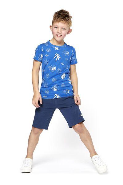 Kinder-T-Shirt blau blau - 1000018337 - HEMA