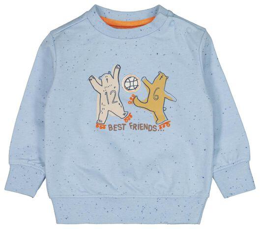 Babyoberteile - HEMA Baby Sweatshirt, Best Friends Blau - Onlineshop HEMA
