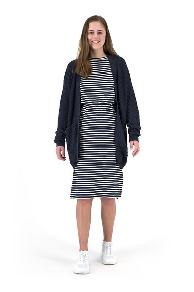 women's knitted cardigan dark blue dark blue - 1000019466 - hema