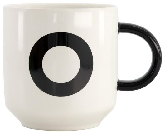 mug en faïence blanc/noir 350 ml - O - 61120110 - HEMA