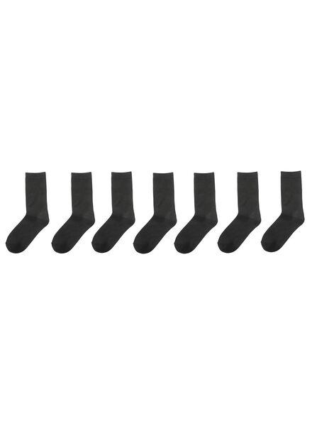 7 paires de chaussettes femme noir noir - 1000001568 - HEMA