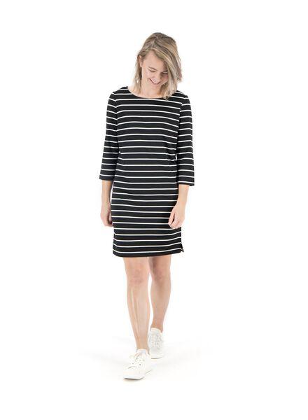 Damen-Kleid schwarz/weiß schwarz/weiß - 1000014826 - HEMA