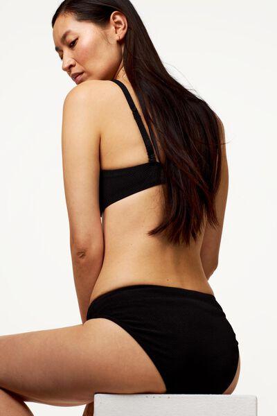 bas bikini femme - structure noir noir - 1000022865 - HEMA