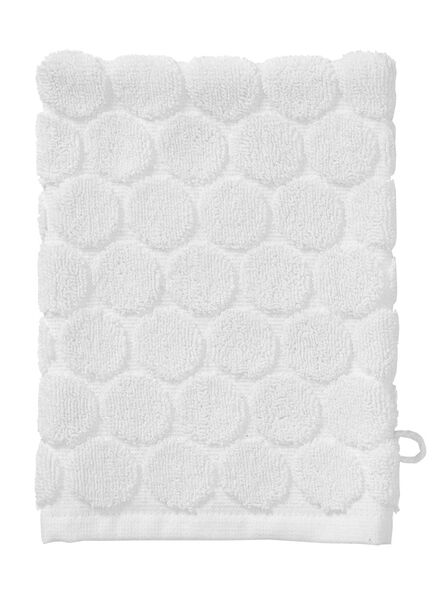 wash mitt - heavy quality - white dot white wash mitt - 5200063 - hema