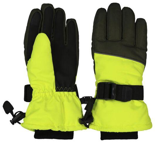 HEMA Kinder Skihandschoenen Fluor Geel (fluor geel)