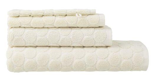 handdoeken - zware kwaliteit - gestipt ecru ecru - 1000015152 - HEMA