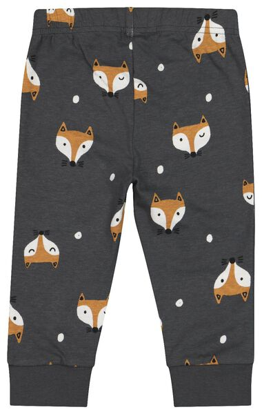 2er-Pack Baby-Pyjamas, Fuchs dunkelgrau dunkelgrau - 1000020633 - HEMA