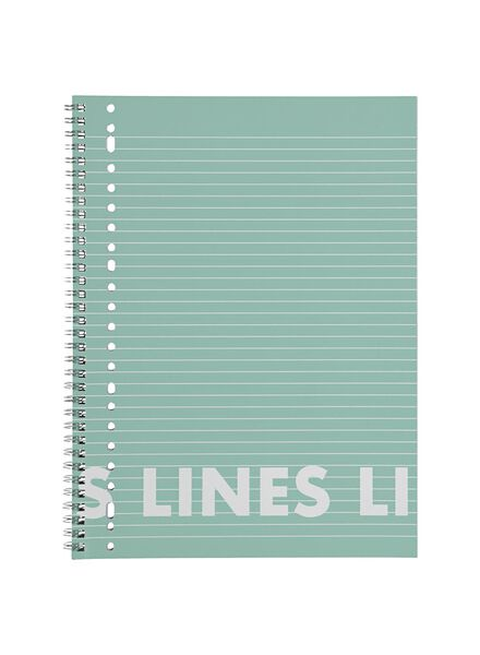 3 cahiers à spirale A4-lignés - 14101642 - HEMA