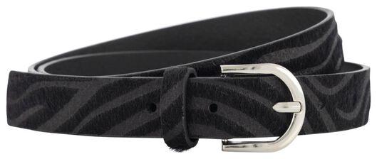women's belt zebra grey grey - 1000021085 - hema