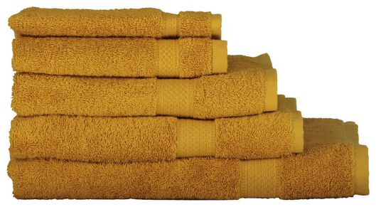 serviettes de bain - qualité épaisse ocre ocre - 1000015169 - HEMA