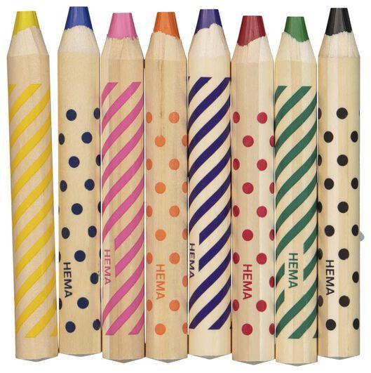 8gros crayons de couleur - 15900036 - HEMA