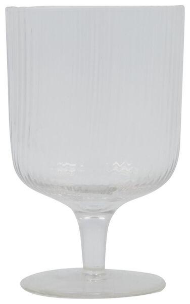 Wasserglas Bergen, Streifenrelief, 250 ml - 9401051 - HEMA