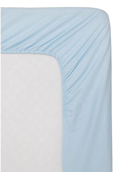 drap-housse - coton doux - 160x200 cm - bleu clair bleu clair 160 x 200 - 5100150 - HEMA