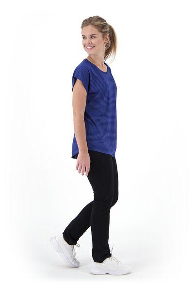women's sports shirt loose fit blue blue - 1000020049 - hema