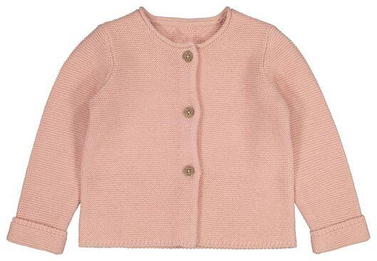 HEMA Baby-Strickjacke Rosa