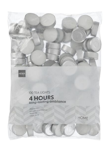 Image of HEMA 100 Tea Lights - 4 Burning Hours