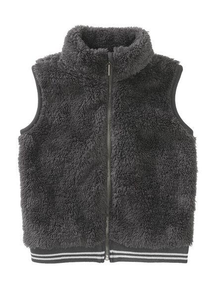 children's waistcoat dark grey dark grey - 1000006875 - hema