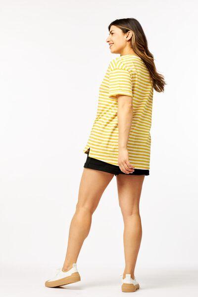 dames t-shirt strepen geel - 1000023914 - HEMA