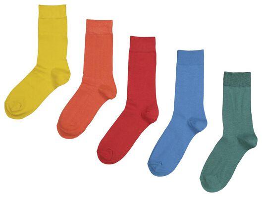 5-pack men's socks multi multi - 1000018888 - hema
