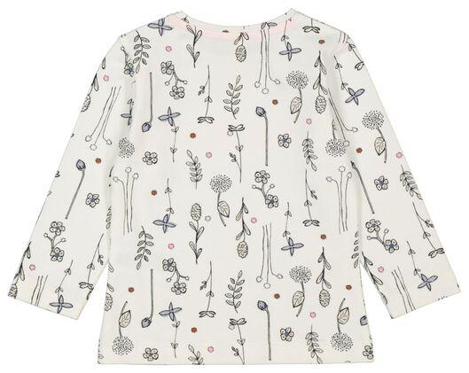 baby t-shirt love grows gebroken wit gebroken wit - 1000022191 - HEMA