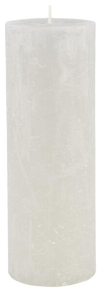 rustic candle - 7x19 - light grey - 13502438 - hema