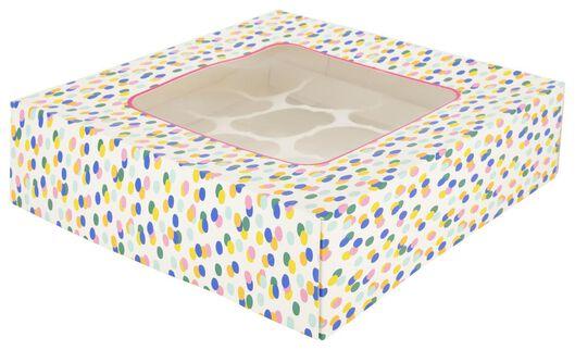 Tortenkarton, 28 x 28 x 7.5 cm, Konfetti - 80810149 - HEMA