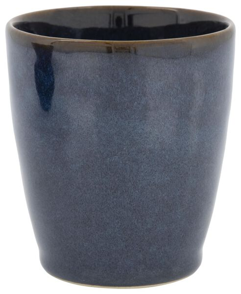 beker 8 cm - Porto - reactief glazuur - donkerblauw - 9602223 - HEMA