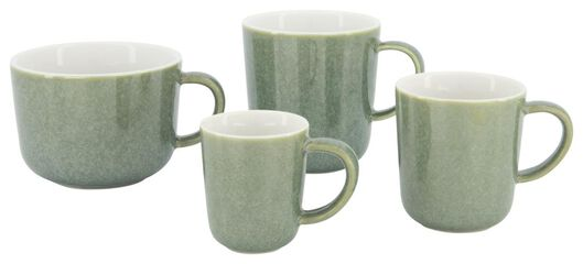 mug à cappuccino Chicago 330 ml - émail réactif - vert - 9602161 - HEMA