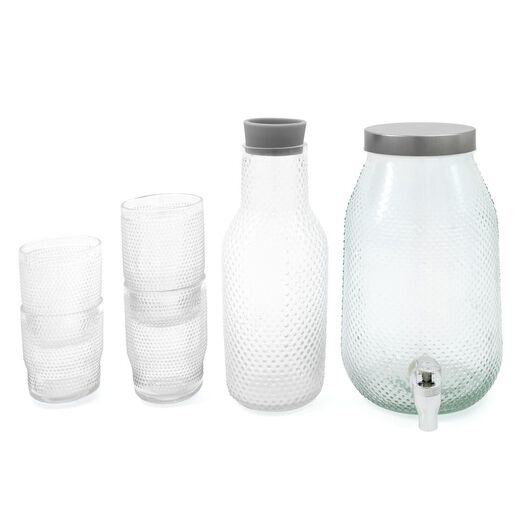 water glass Bergen small balls relief 360 ml - 9402009 - hema