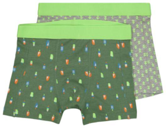 HEMA 2 Boxers Enfant Crèmes Glacées Vert (vert)